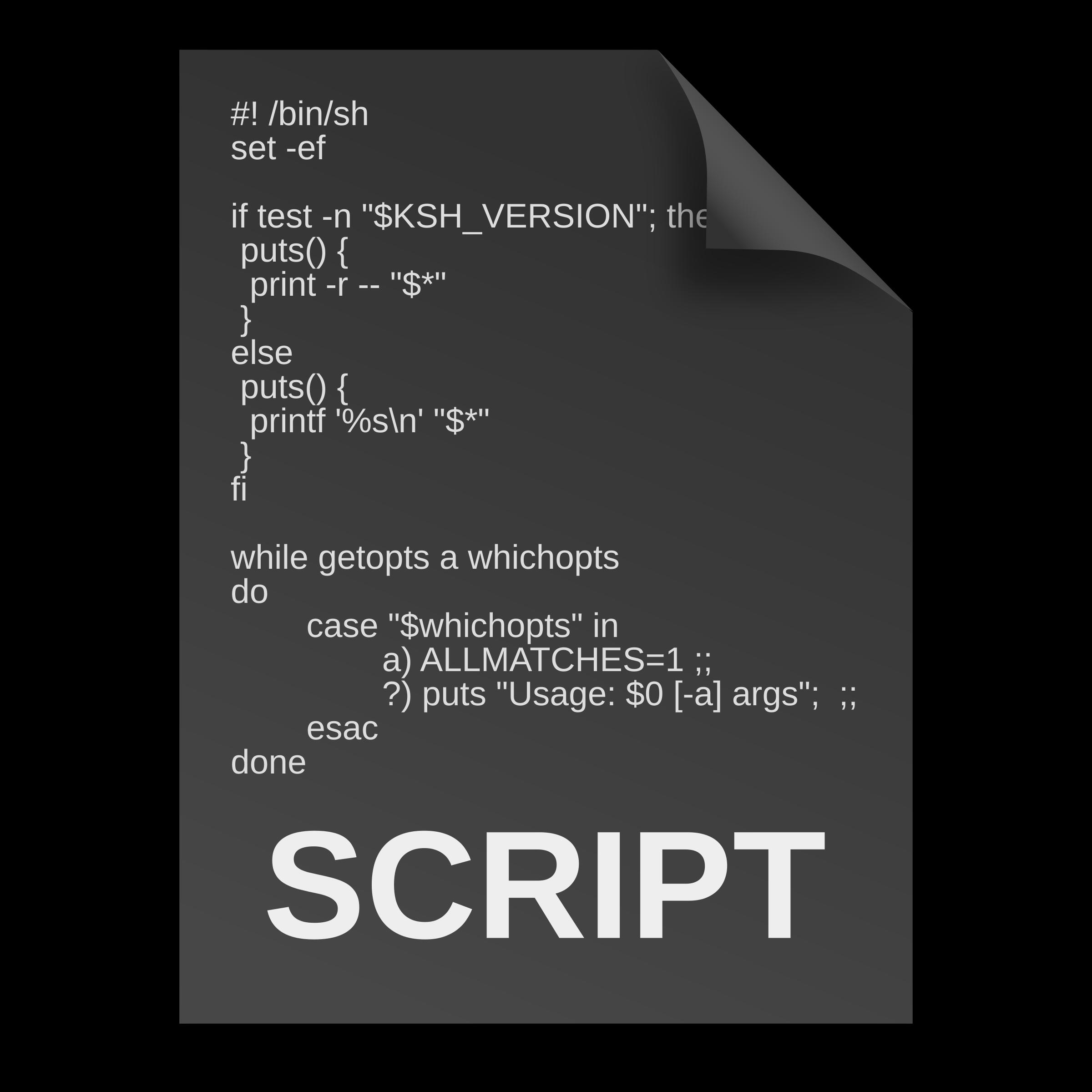 Outline clipart bin. Script document icon outlines