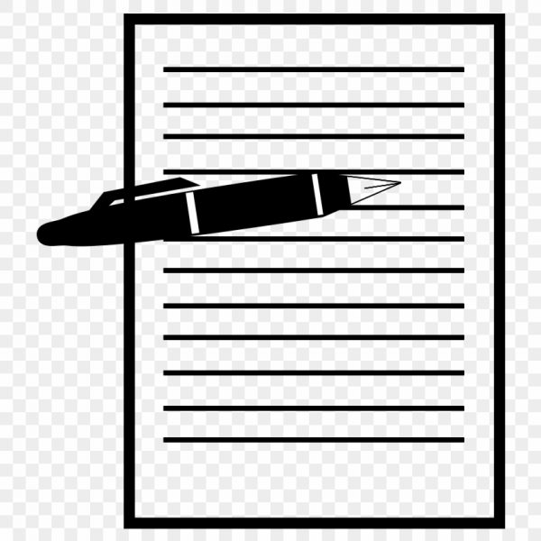 Pen and paper record. Document clipart transparent
