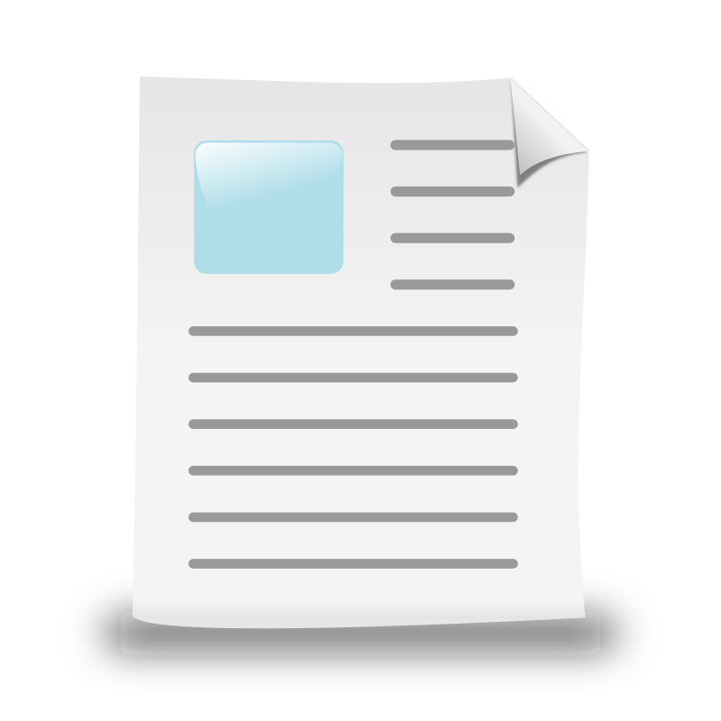 New medium image png. Document clipart vector