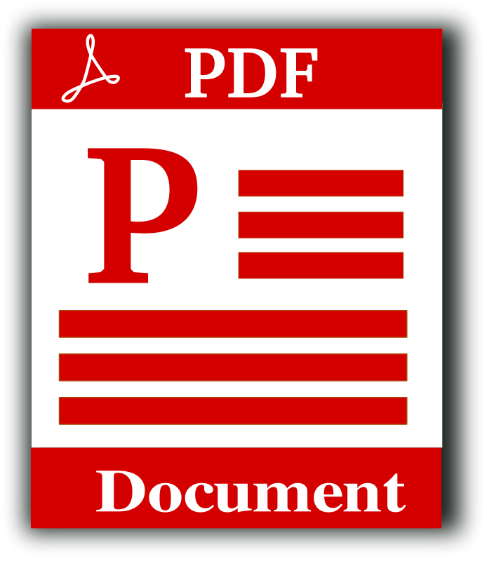Document clipart vector. Pdf file icon free