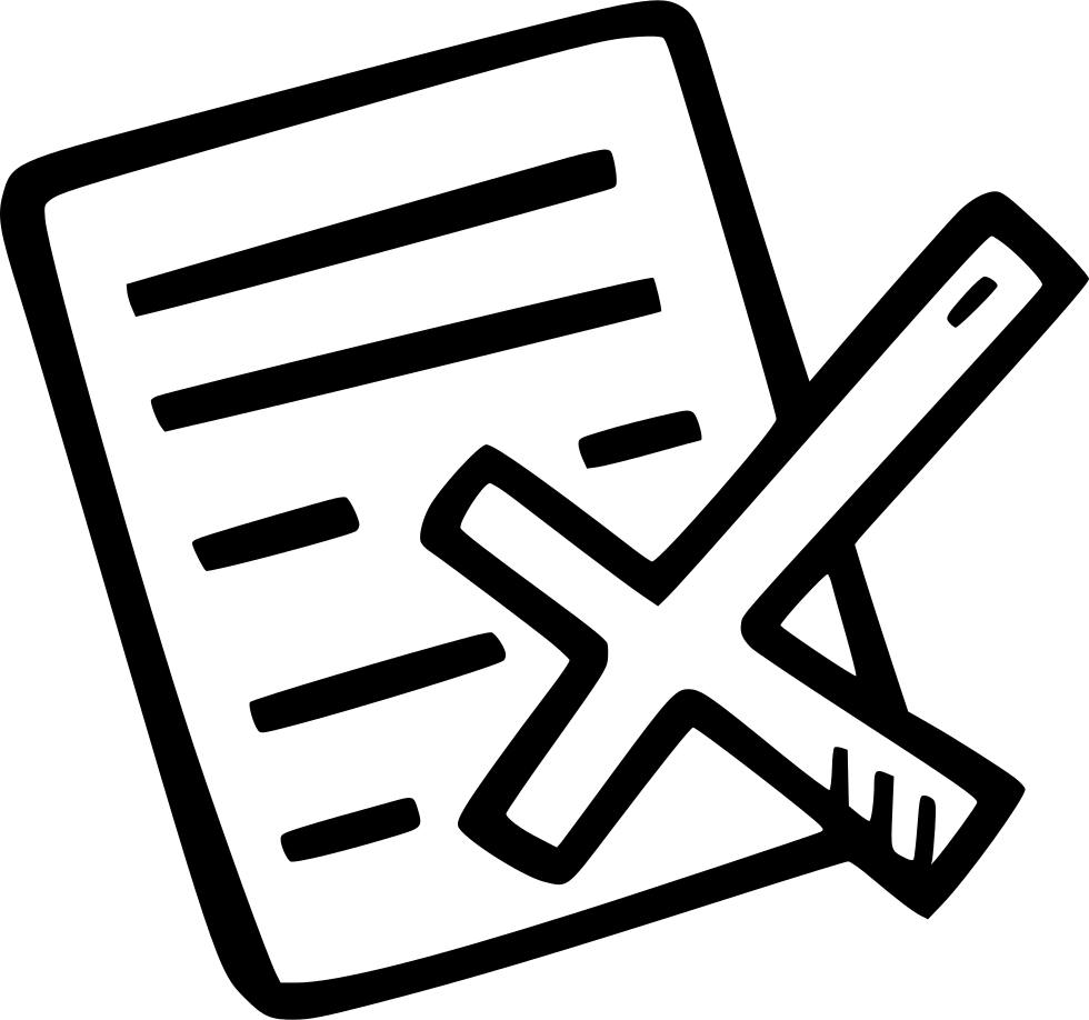 Rejected svg png icon. Document clipart visitor book