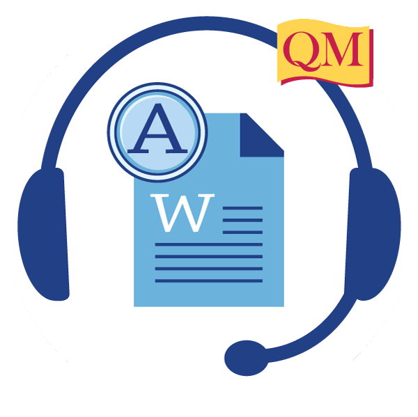 Creating accessible documents quality. Headphone clipart word work center