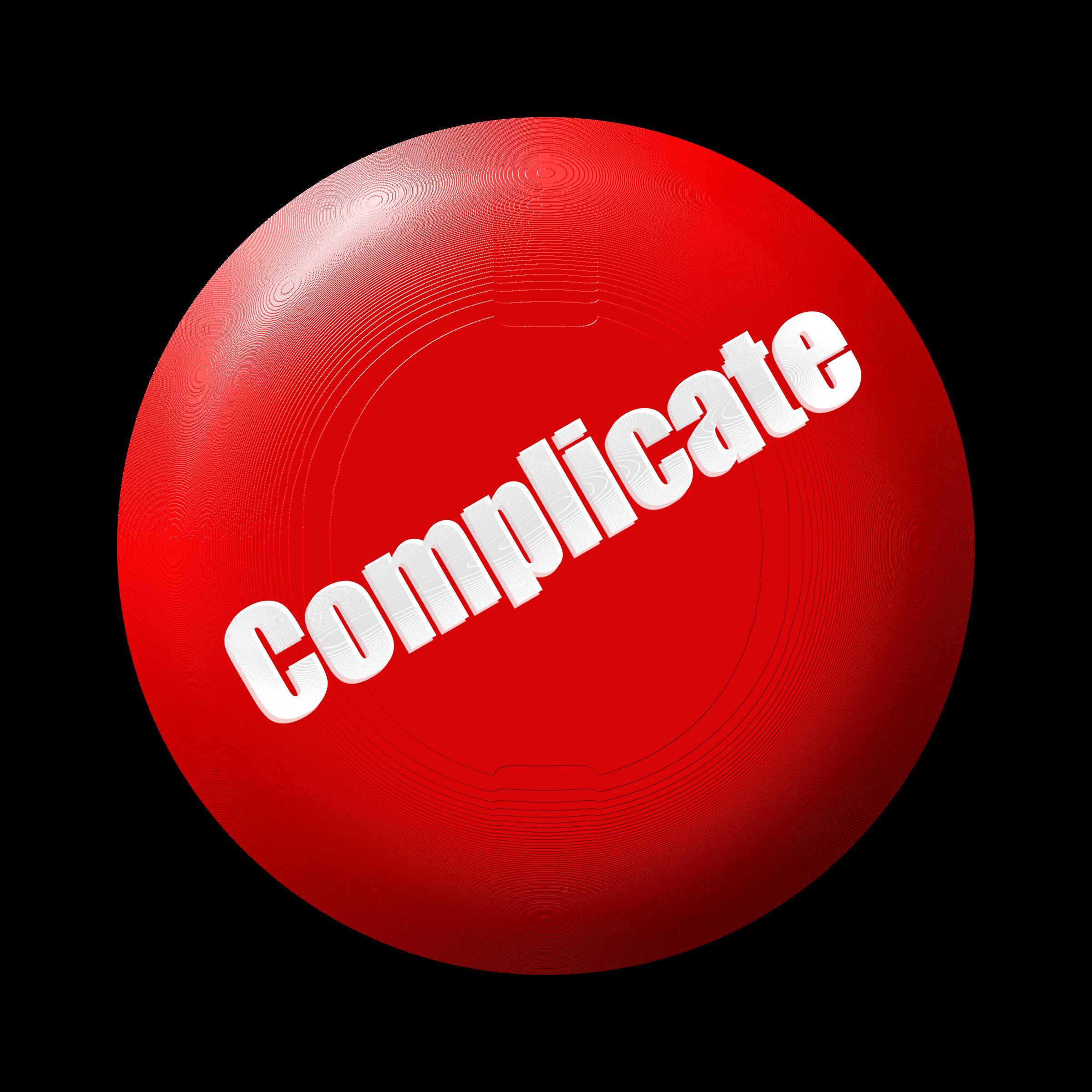 Complicate button big image. Kickball clipart sport