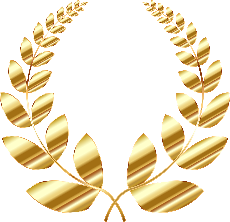 Hammer clipart gold. Golden laurel wreath big