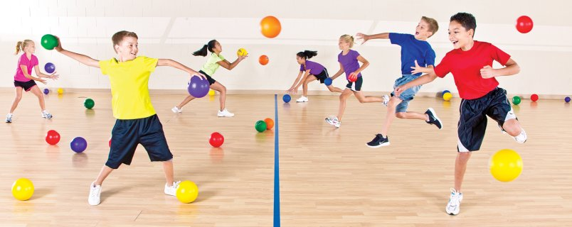 Kid s excel activity. Dodgeball clipart group game