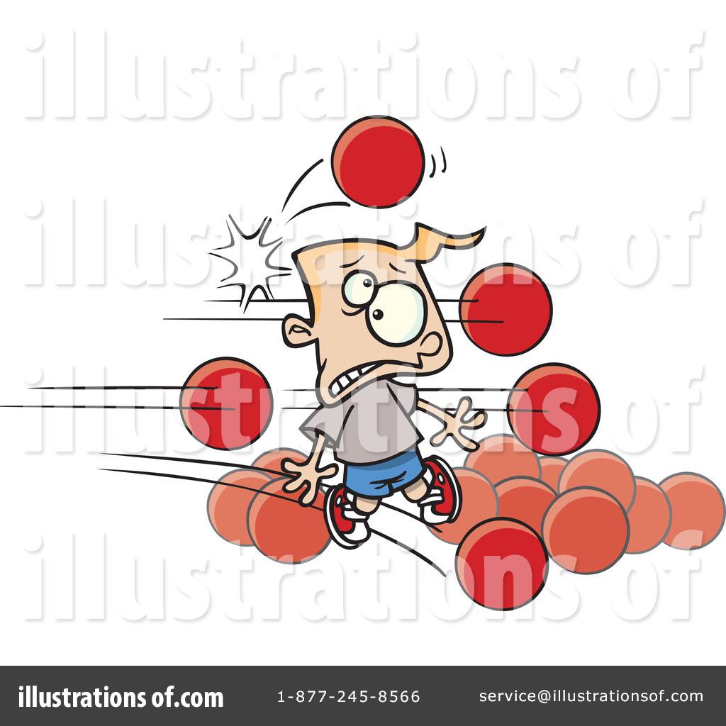 Dodgeball clipart kid dodgeball. Illustration by toonaday