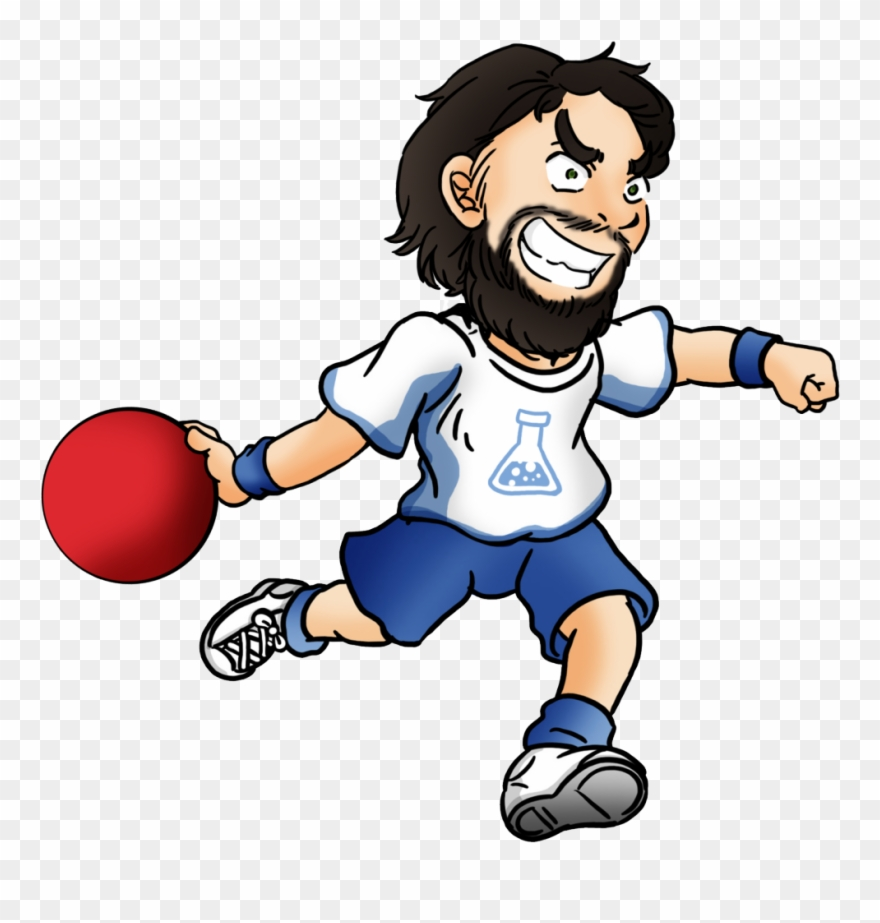 Dodgeball clipart sport arena. Clip cartoon person throwing