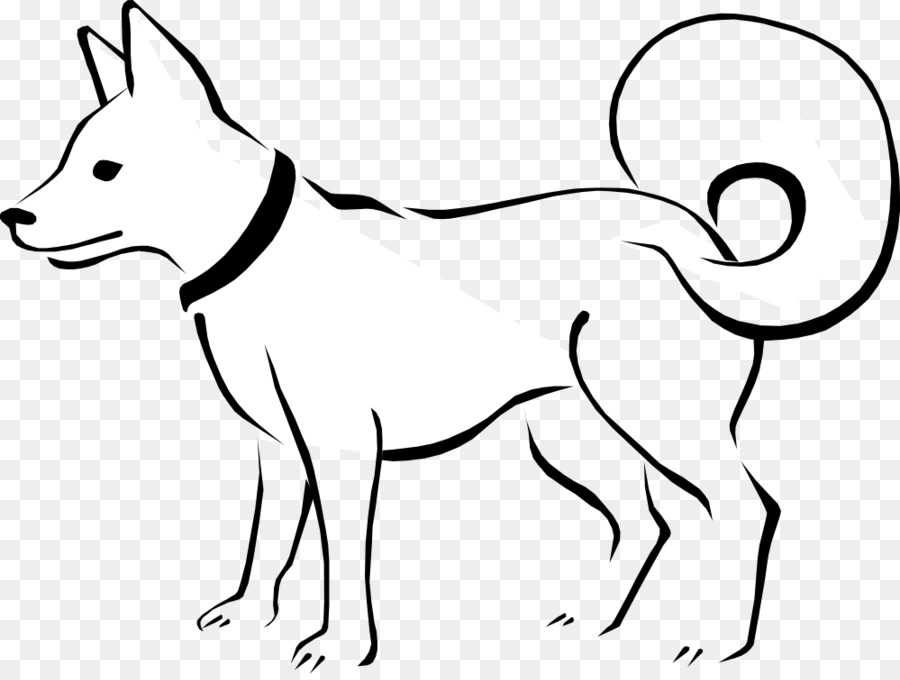 Puppy black and white. Dog clipart