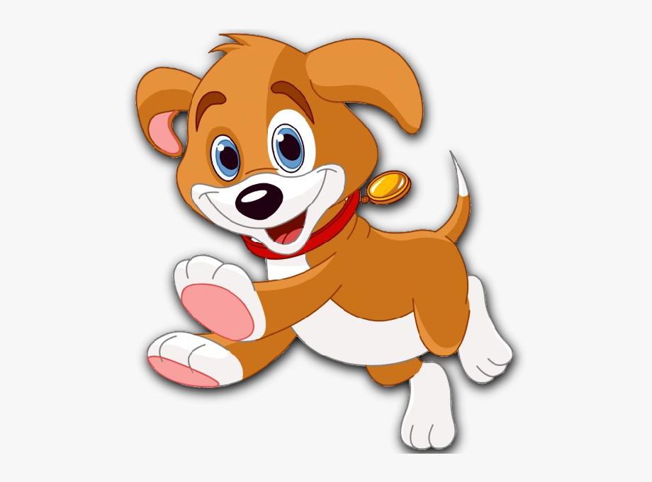 Moving puppy transparent background. Pet clipart cartoon