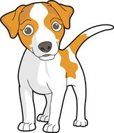 Clipart dogs art. Cute cartoon clip dog