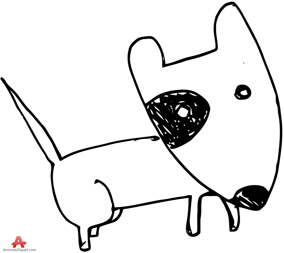 Dog clipart doodle. Drawing free download best