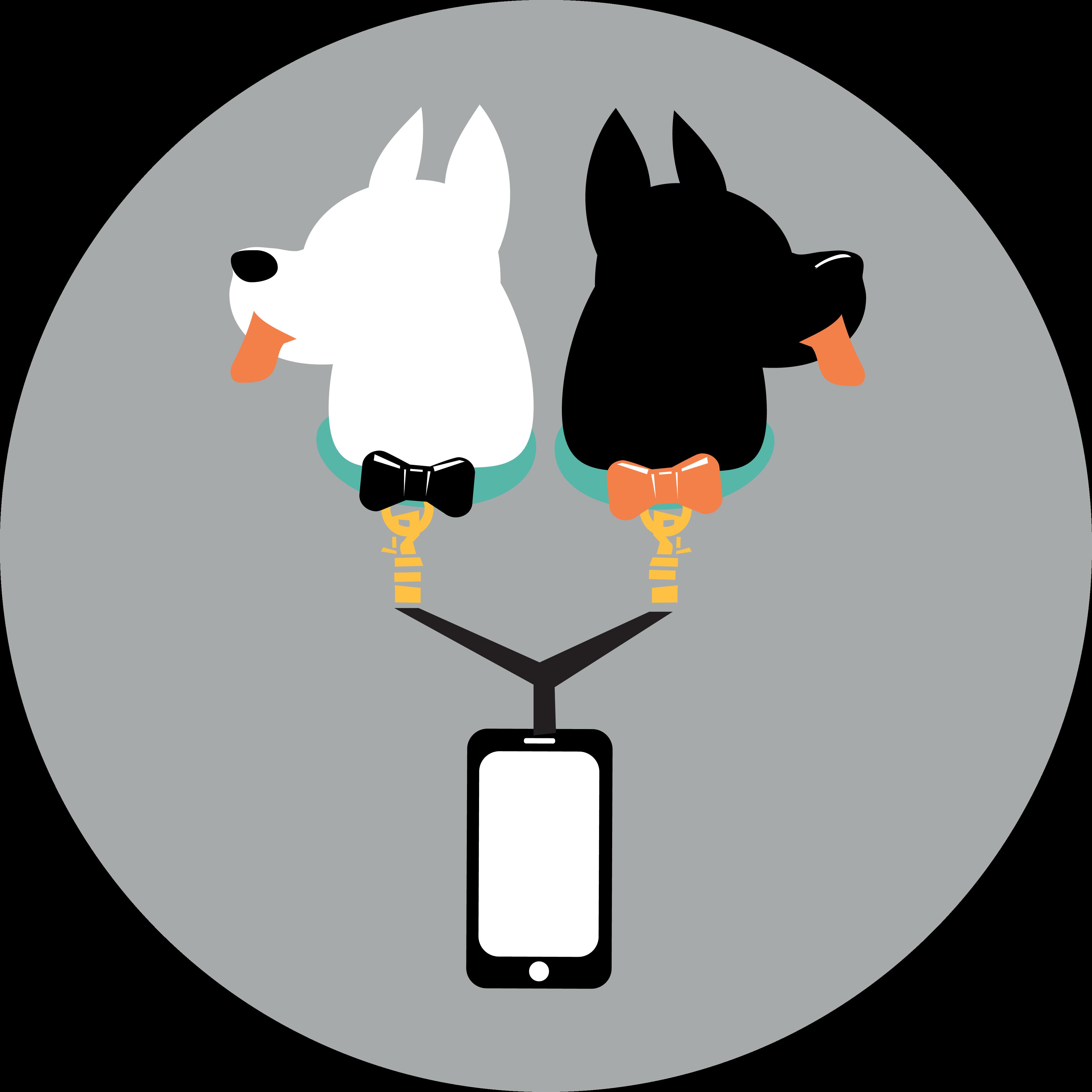 Wonderwoof the activity tracker. Dog clipart fashion