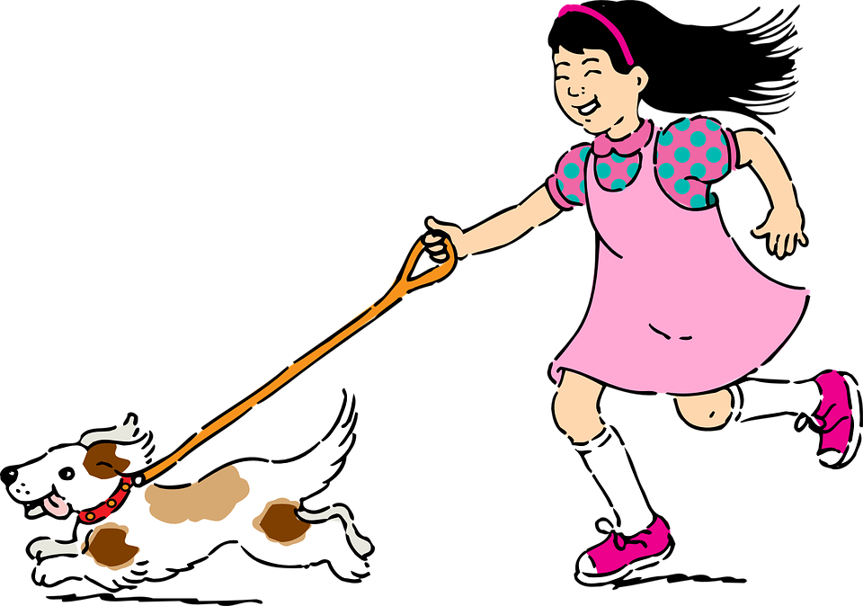 A s life walking. Dog clipart feed
