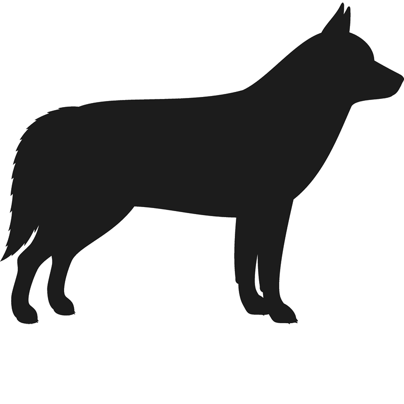 Dog silhouette at getdrawings. Husky clipart baby husky