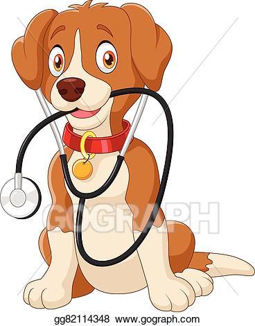 Eps vector cute sitting. Nurse clipart dog