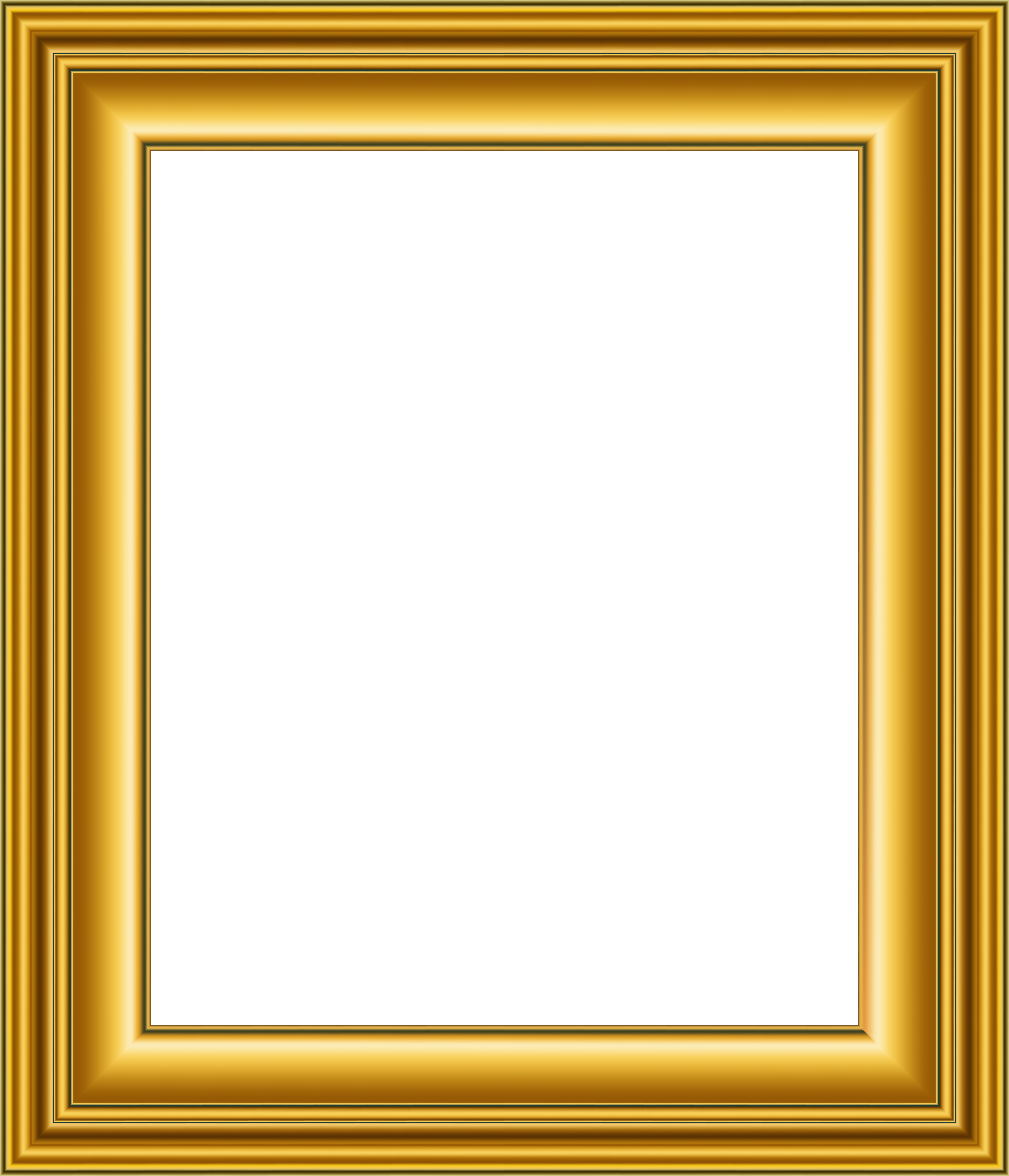Old gold frame transparent. Square clipart photograph border