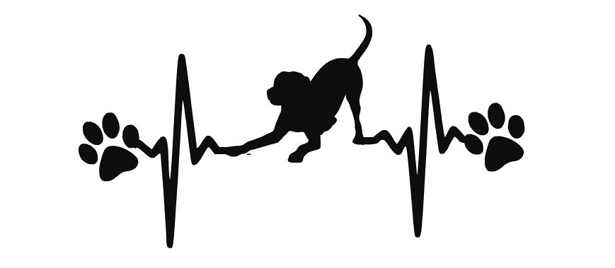 Heartbeat clipart silhouette. Dog ekg labrador retriever