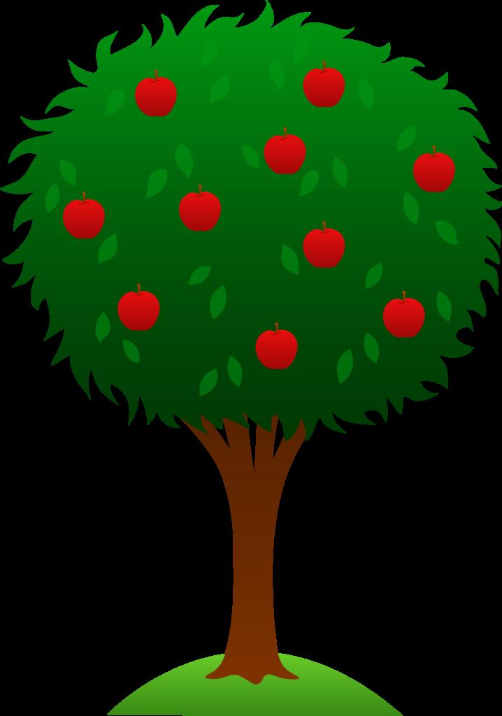Apple clip art summer. Dog clipart tree