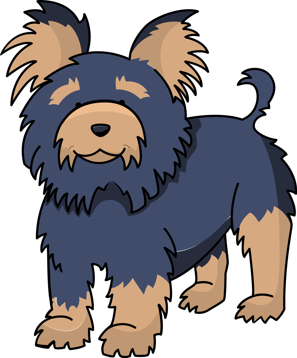 Dog clipart yorkie. Free download best on