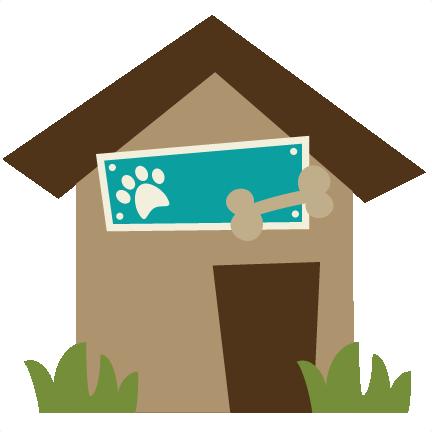 Dog house png. Svg file for scrapbooking