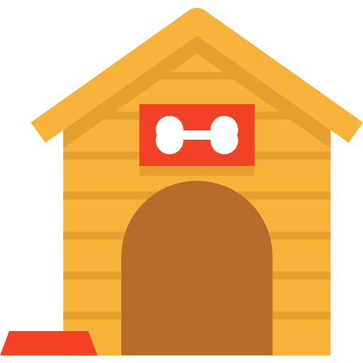 Kennel and household doghouse. Mailbox clipart house furniture