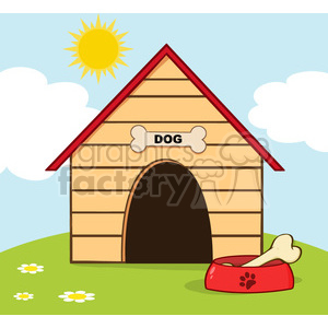 Royalty free rf copyright. Doghouse clipart