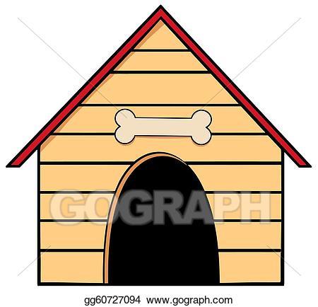 Doghouse clipart. Eps illustration dog house