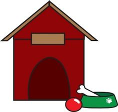 Doghouse panda free images. Bone clipart dog toy