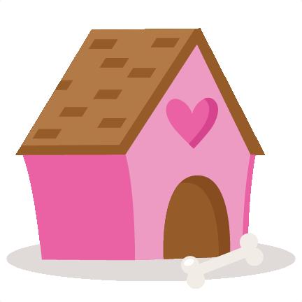 Valentine puppy svg scrapbook. Dog house png