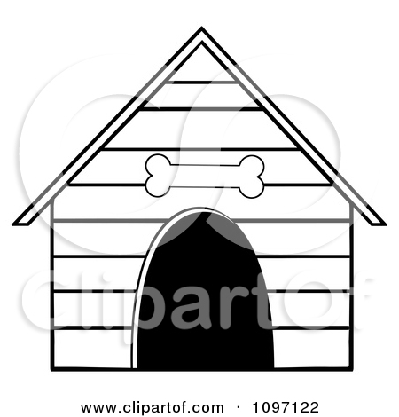 Doghouse clipart. Panda free images doghouseclipartblackandwhite