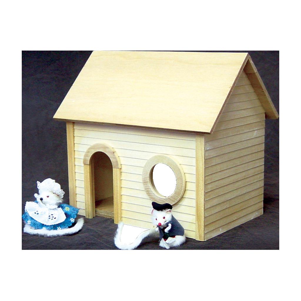 Doghouse clipart bird house. Mouse dollhouse kit real