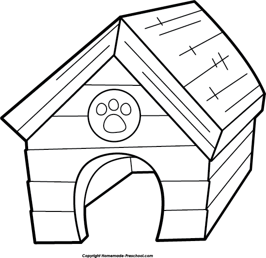 Best dog house clipartion. Doghouse clipart black and white
