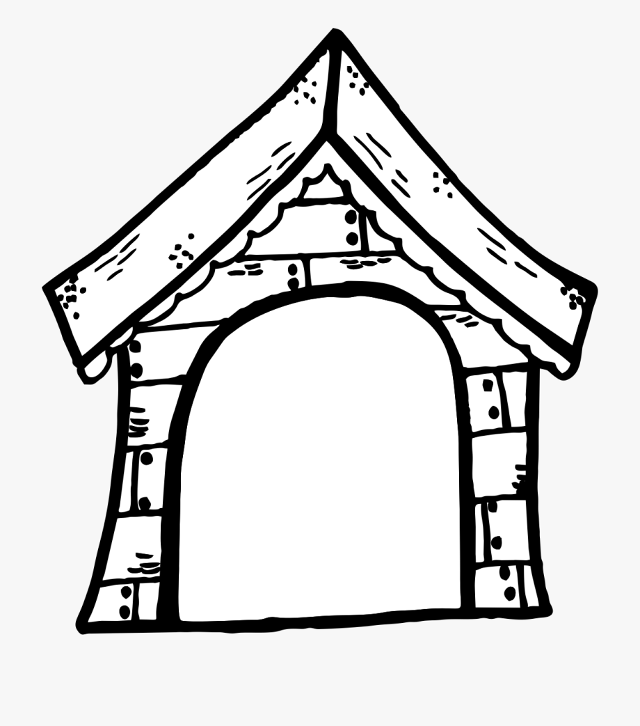 Doghouse clipart black and white. Good dog house clip