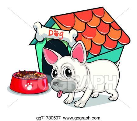 Vector art a cute. Doghouse clipart bulldog