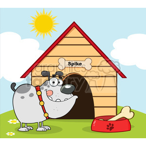 Doghouse clipart bulldog. Royalty free rf copyright