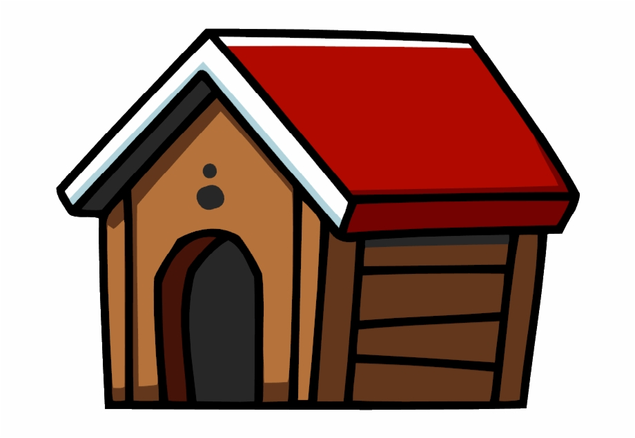 Pet at home dog. Doghouse clipart cat house