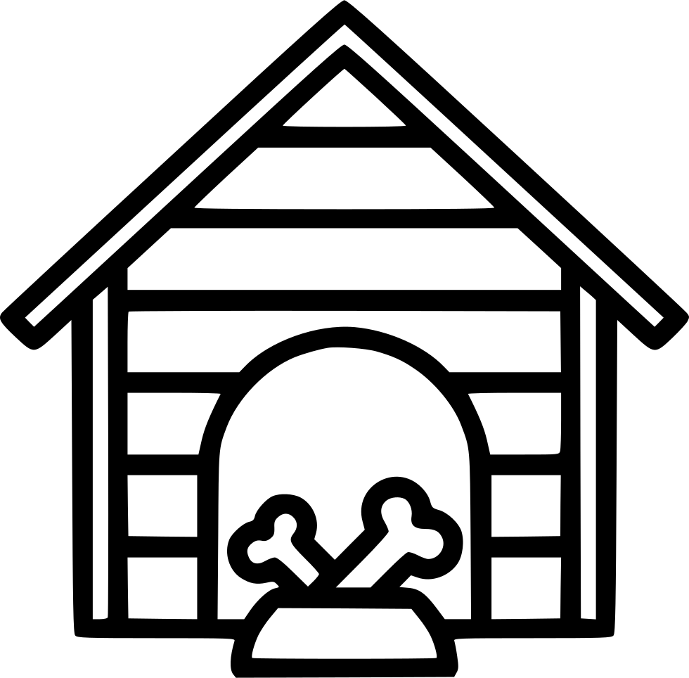 Doghouse clipart cat house. Dog svg png icon