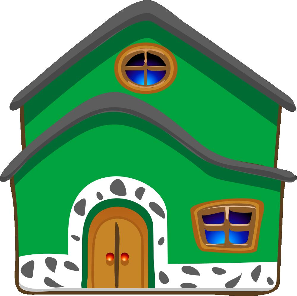 Doghouse clipart clip art. Onlinelabels architetto casa verde