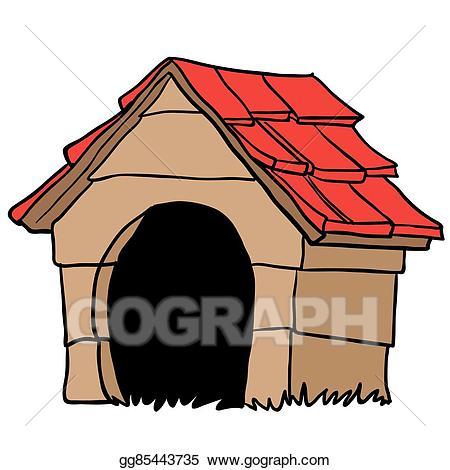 Doghouse clipart clip art. Vector dog house eps