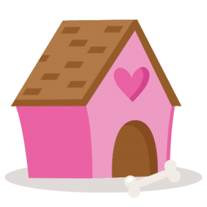 Doghouse clipart cute. Valentine puppy dog house