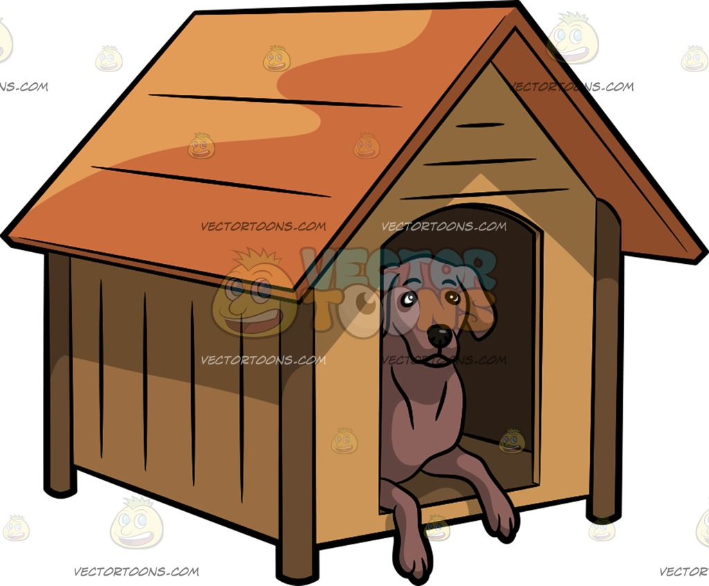 Kennel drawing at paintingvalley. Doghouse clipart dog cage
