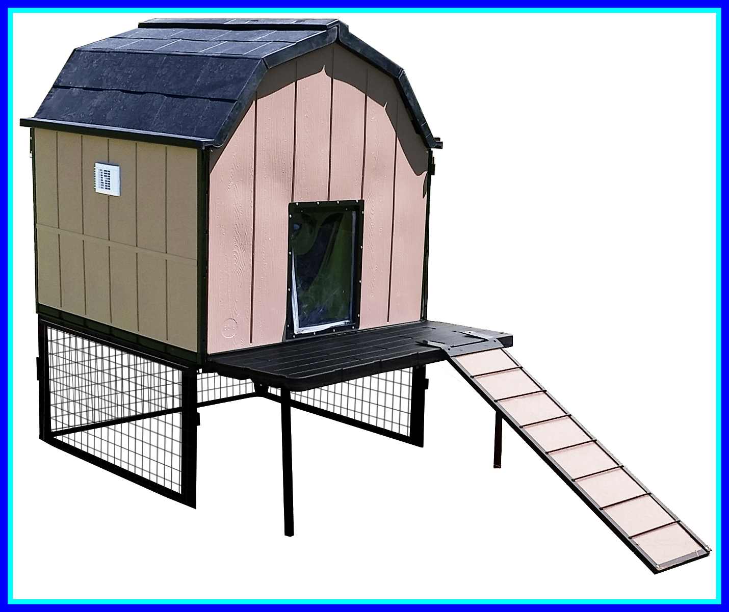 Fascinating large elevated house. Doghouse clipart dog crate
