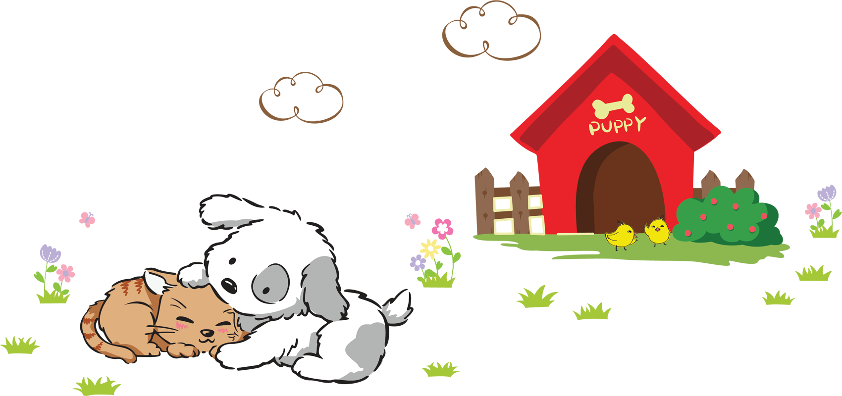 Doghouse clipart dog door. Pvc home decor for