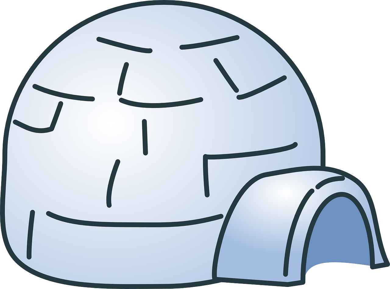 Doghouse clipart dog door. Best igloo house reviews