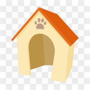 Doghouse clipart dog door. Cartoon house home kennel