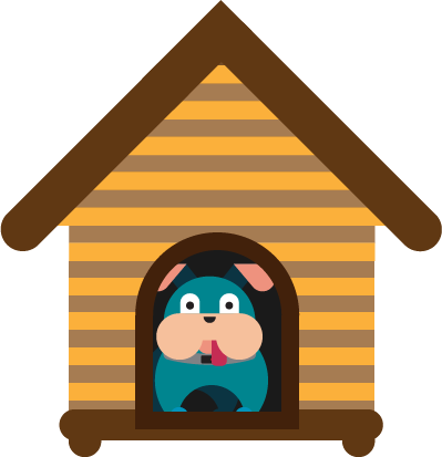 Top best insulated houses. Doghouse clipart dog door