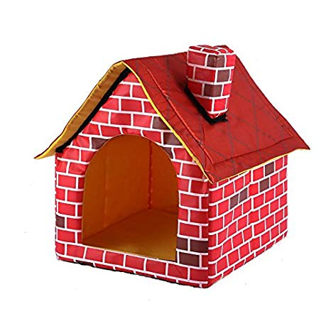 Doghouse clipart dog shelter. Gomaomi portable brick pet