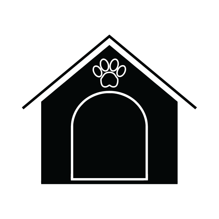 Doghouse clipart dog shelter. House free icons easy