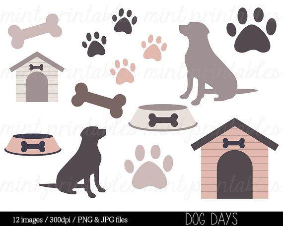 Clip art animal silhouette. Doghouse clipart dog themed