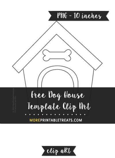 Free house template animals. Doghouse clipart dog themed